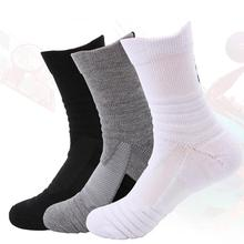 Men Knee High Sports Socks Discontinuous Pile Loop Sweat Absorbent Non Slip Basketball for Outdoor Sport Badminton Running