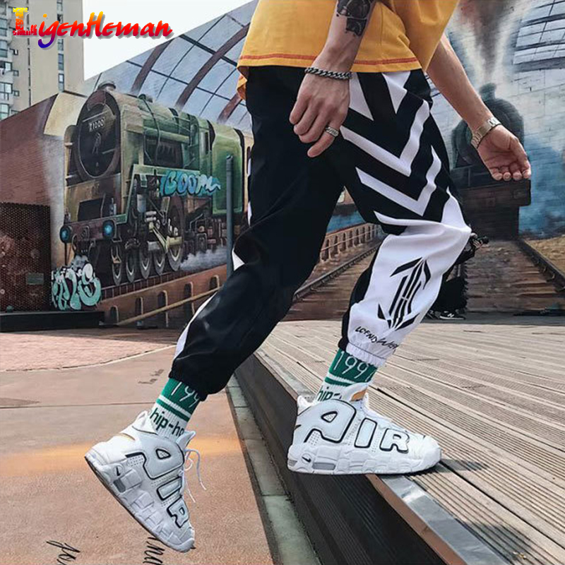 Men Fitness Sweatpants M-3XL Men's Streetwear Hip Hop Joggers Pants 2019 Men Loose Casual Harem Pants Ankle Length Trousers