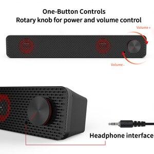 Image 4 - Smalody Soundbar 10W bilgisayar hoparlör 3.5mm kablolu hoparlör HiFi Stereo ses çubuğu USB Powered hoparlörler dizüstü bilgisayar için telefonları