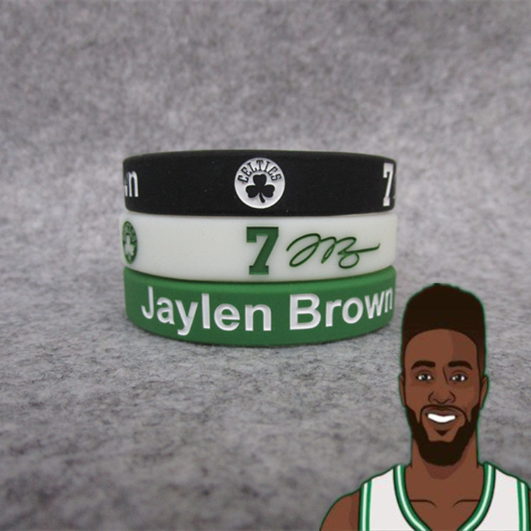 Celtics Green Army Basketball Star Jay. Brown Collection Signature Night Light Sports Bracelet Silicone Wrist Strap