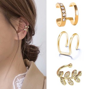 Fashion Small Ear Cuff Earring For Women Ear Clip Gold Color No piercing Fake Cartilage Earrings