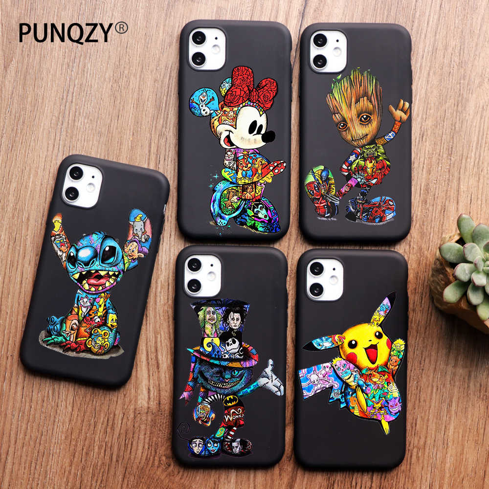 Groot Joker Marvel Stitch untuk iPhone 11 Pro Max XR Case X XS Max 5 5S 6 6S 8 7 Plus Phone Case Funda Coque Etui Capa Shell