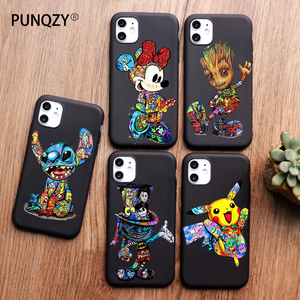 Groot Joker marvel Stitch for iPhone 11 pro max XR case X XS Max 5 5S SE 6 6S 8 7 Plus Phone Case Funda Coque Etui capa Shell(China)