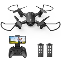 2 batterie Drone santa pietra HS340 Mini Drone 720P FPV Camera RC Quadcopter Circle Fly 3D lancia gesto/controllo vocale Waypoint