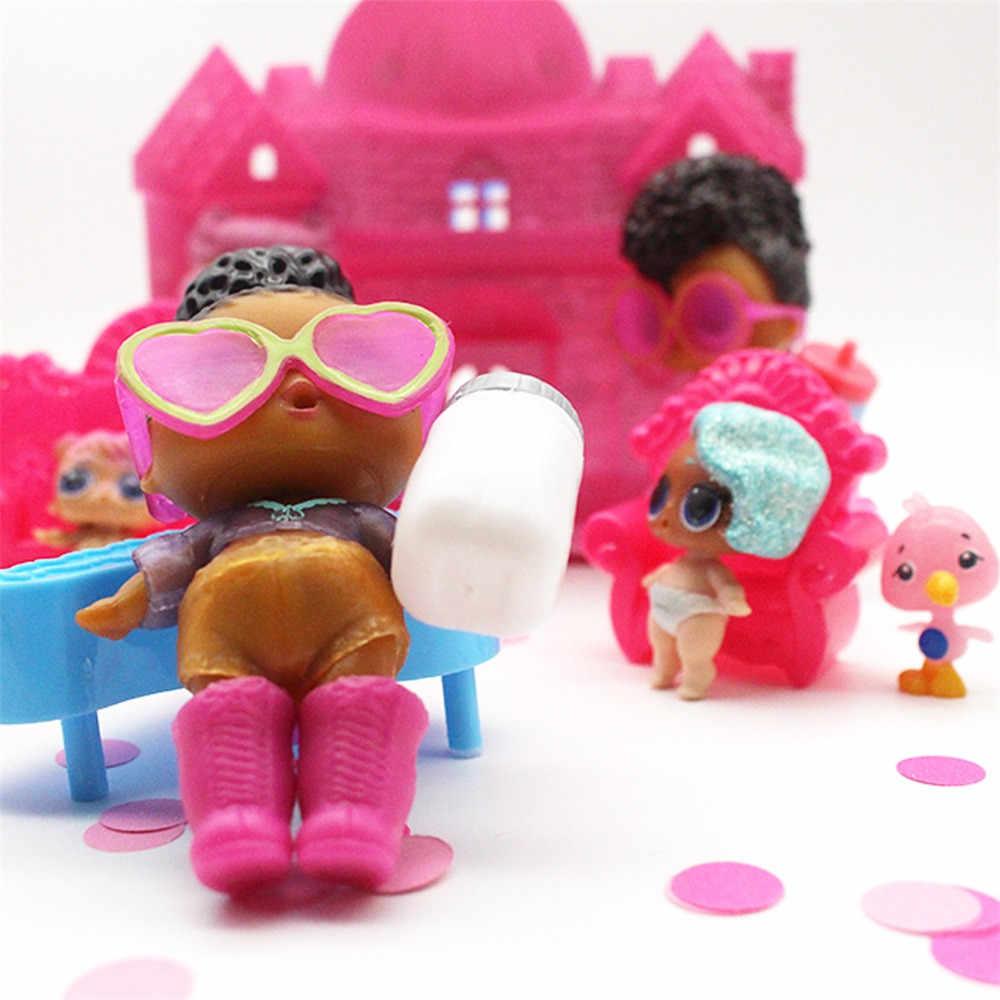 Brinquedos do bebê Grandes Pretend Play Princesa Boneca Brinquedo Casa Grande Casa de Família Para Surpresa Dolls Kids Brinquedos Educativos De Desenvolvimento