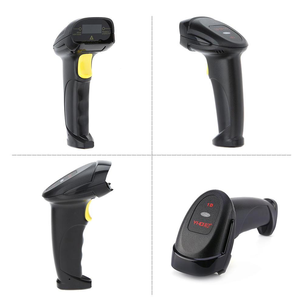 Image 3 - Aibecy 2 in 1 2.4G Wireless Barcode Scanner & USB Wired Barcode Scanner Automatic Handheld 1D Bar Code Scanner Reader-in Scanners from Computer & Office
