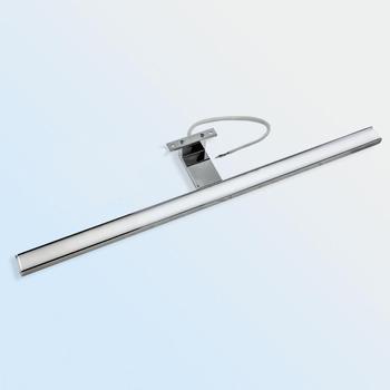 2 en 1 Linson, 60cm, 8W, 650LM, IP44, CE ROHS, luz Led para espejo de baño cromado, lámpara led montada en pared, luz led para armario