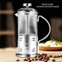 ステンレス鋼ガラスフレンチプレスコーヒーカップティーメーカーカフェティエールフィルターキッチンツール 350 ミリリットル