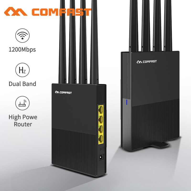 AC1200 Dual Band Wireless WiFi Router 2.4G+5Ghz Wan/Lan Smart Wi-Fi Repeater/Access Point Router 4*5dBi High Gain Antenna Router