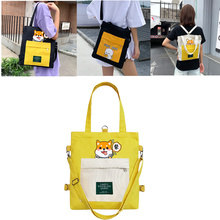 Handbag Large-Capacity Canvas-Bag Tutorial Messenger One-Shoulder Women New