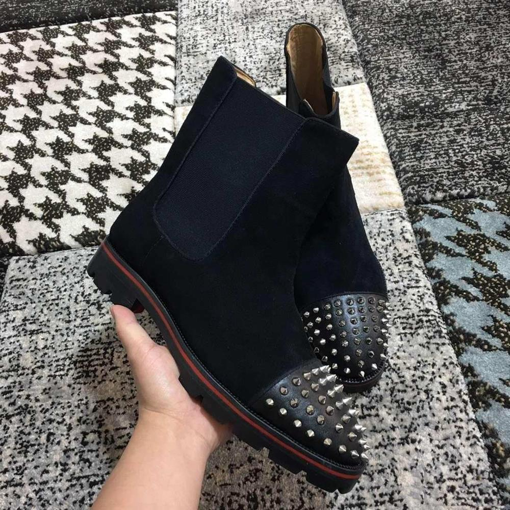 Red Bottom Boots for Men Luxury Spikes