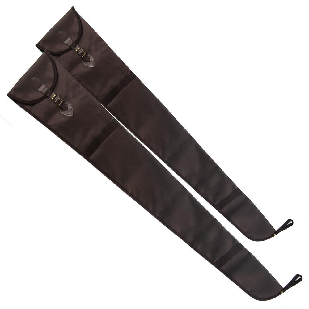 GUGULUZA Rifle Sleeve Durable Shotgun Sock Lightweight Lined Gun Cases Cover Brown Storage Bag