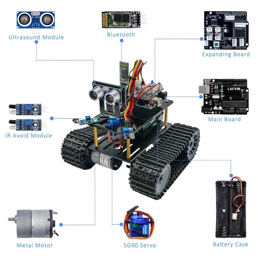 Free Ship╡LAFVIN Car-Kit Tank-Robot Programming Tutorial Mini NEW for Education