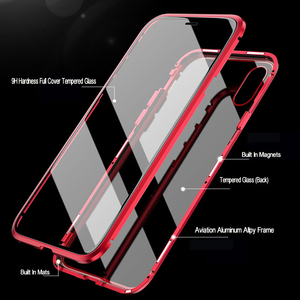 Image 4 - 360 magnético metal duplo lado vidro caso do telefone para huawei honra 20 20 pro 9x 9x pro 10 lite y9 prime 2019 p inteligente z p30 capa