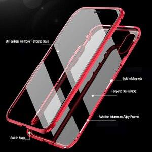 Image 4 - 360 manyetik Metal çift taraflı cam telefon kılıfı için Huawei onur 20 20 Pro 9X 9X Pro 10 Lite Y9 başbakan 2019 P akıllı Z P30 kapak