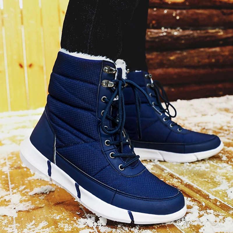 Kadın botları kış ayakkabı kadın sıcak tutmak peluş bileğe kadar bot kadınlar için kış platformu kar botları kadın kadın ayakkabıları artı boyutu