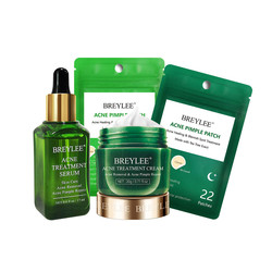 BREYLEE Acne Treatment Serum Face Cream Skin Care Anti Acne Face Essence Removal Spots Pimple Patch Stickers Face Mask Cosmetics
