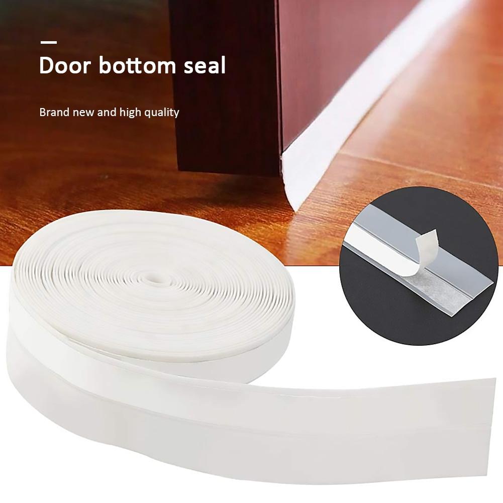 Tira de sellado autoadhesiva de 5m x 45mm cinta de sellado de fondo de ventana de silicona cinta de sellado a prueba de polvo aislamiento acústico burlete