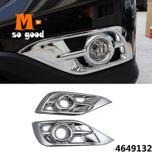 For Honda CRV CR-V 2012 2013 2014-Car front Fog Light lamp trim Cover-ABS Chrome auto exterior styling accessories sticker shell цена 2017