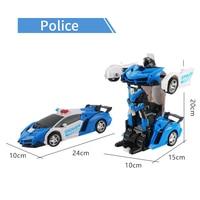 RC 2.4Ghz Transformation Robots Sports Models Collision Deformation Classic Car Robots Toys Children Gifts