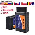 Bluetooth eml327 obd obdii odb2 v2 elm327 Переключатель адаптер интерфейса elm327 Wi-Fi ford scan carly vgate переливной клапан nexpeak obd2