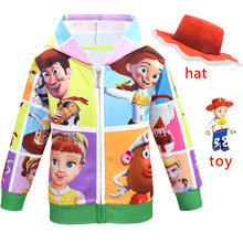 2020 New Children Toy Story 4 Hooded Outdoor Jackets Kids Zipper Gaby doll Casual Coats Jessie Girls Polar Fleece Fashion Jacket(China)