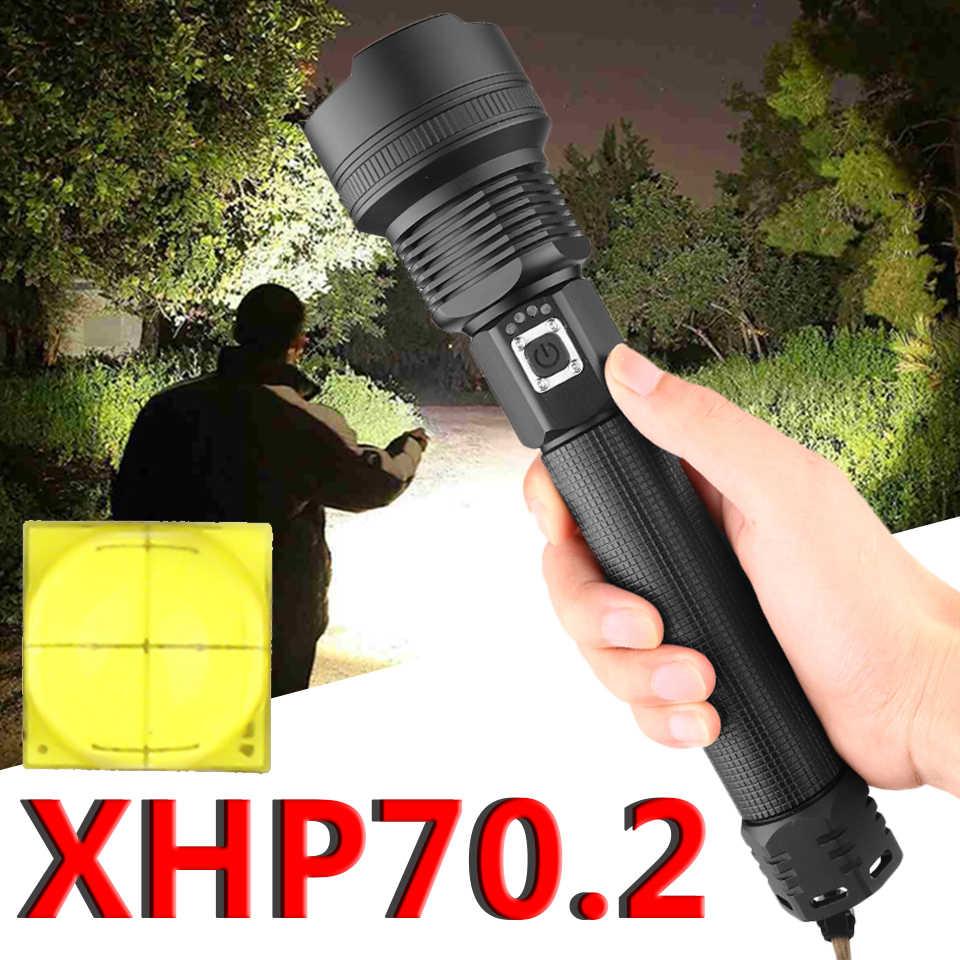Xhp70.2 самый мощный светодиодный фонарик usb Zoom torch 18650 или 26650 фонарь с перезаряжаемым аккумулятором Z90 + 1907