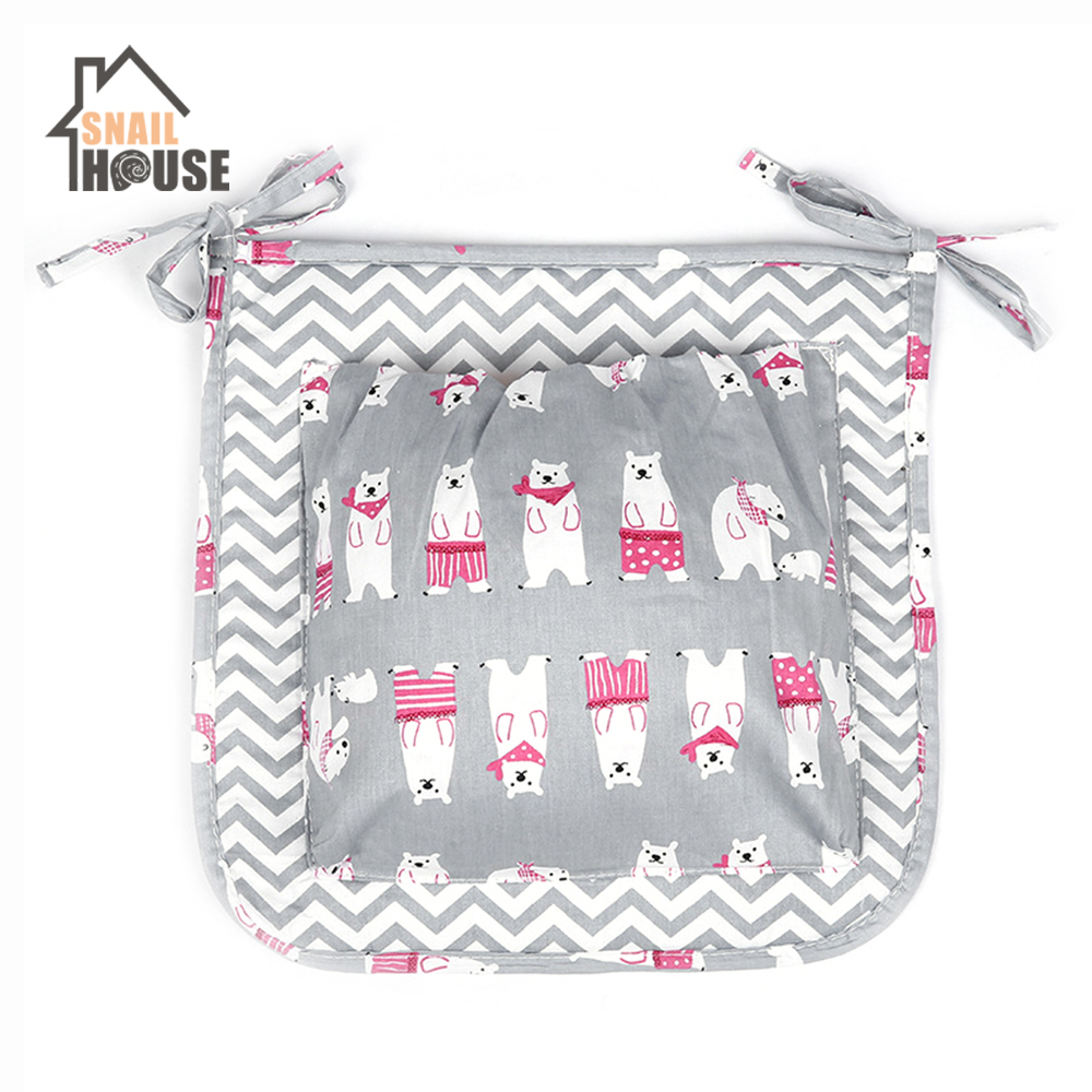 Snailhouse Fashion Baby Diaper Bag Stroller Nappy Bag Mother Organizer Reusable Waterproof Hanging Bag Mummy Storage Nursing Bag