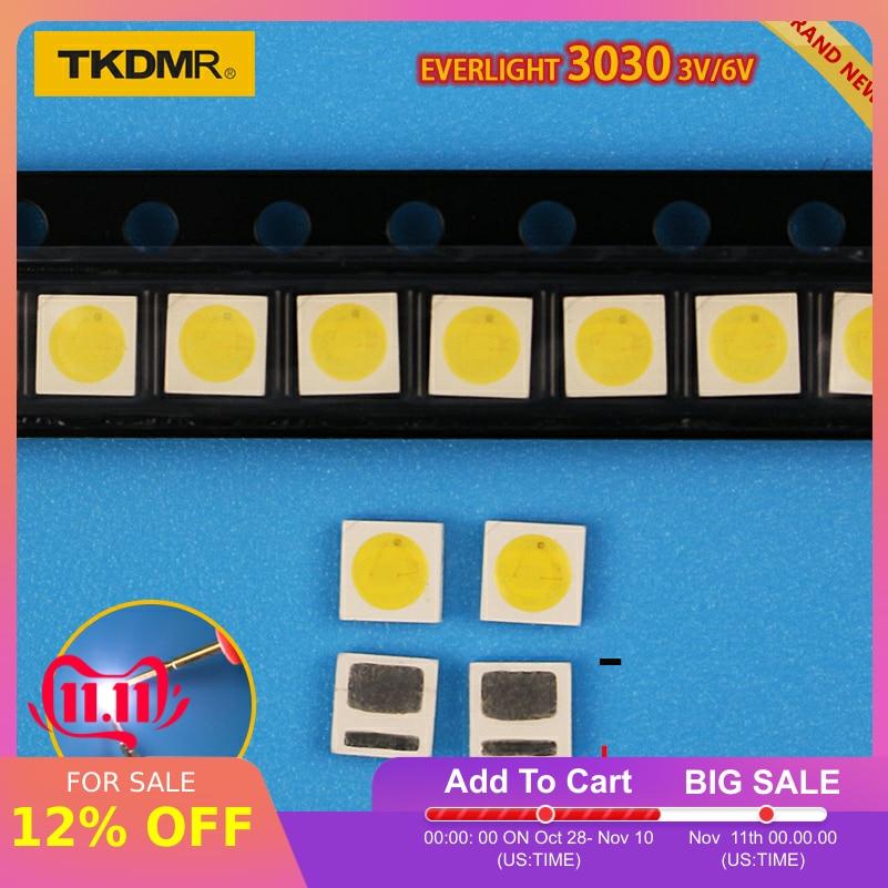 TKDMR Led Tv Backlight 1.2W 3030 3V 6V Kit Electronique Led Led For Lcd Tv Repair Assorted Pack Kit Cool White Free Shipping