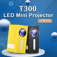 T300 hd mini projetor nativo 1080x1920p led 320x240 pixels projetor vídeo cinema em casa 3d hdmi filme jogo portátil proyector
