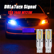 2pcs WY21W 7440 T20 Canbus Bulbs Car LED Light Turn Signal Lamps Daytime Running Lights For Toyota Camry Prado XV50 2014 стоимость