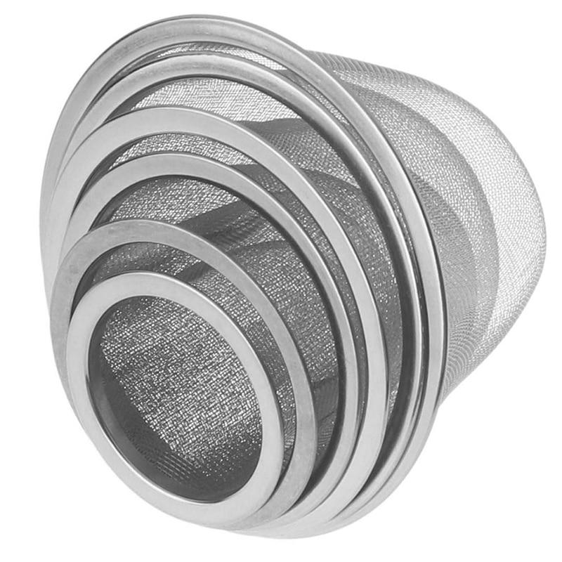 قطر 5-9.5 سنتيمتر قابلة لإعادة الاستخدام شبكة من الاستانلس استيل الشاي Infuser مصفاة إبريق الشاي ورقة التوابل تصفية درينكوير اكسسوارات المطبخ