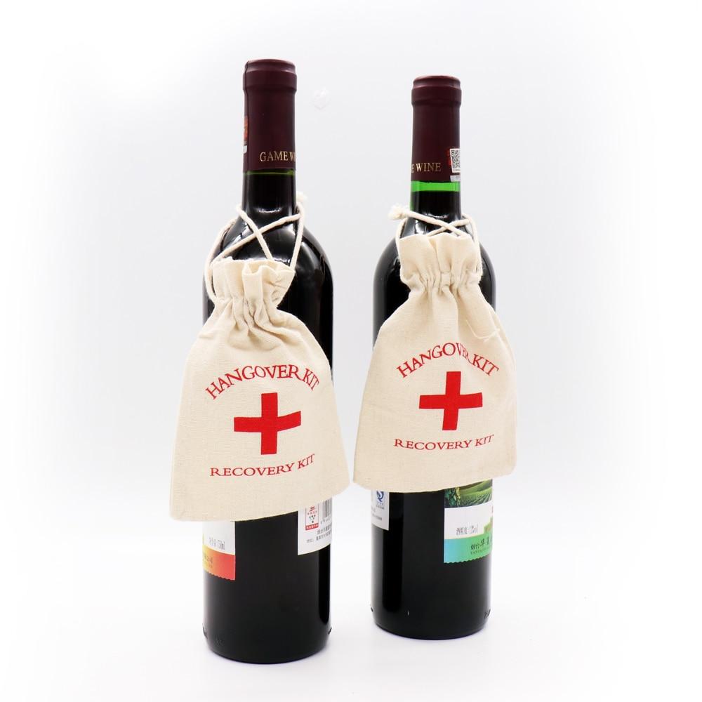 10*14 см набор от похмелья сумка хлопок сезон: сумка девичник вечерние вина украшения тела подвесная сумка вечерние для хранения