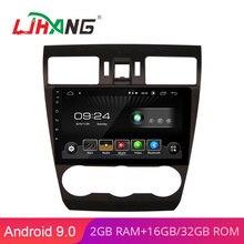 LJHANG Android 9,0 9 дюймов Автомобильный dvd-плеер для Subaru Forester 4 SJ wifi мультимедийный автомобильный Радио Стерео gps Навигация DVD видео