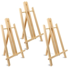 40x24 cm Wooden Easel, 3 Pieces Display Shelf, Craft Painting Easel, Suitable for Children, Adults, Students, Classrooms