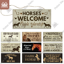 Putuo Decor Horse Signs Wooder Hanging Plaque Decorative Plaque Gifts for Horse Lover Farm Stables Decoration Living Home Decor