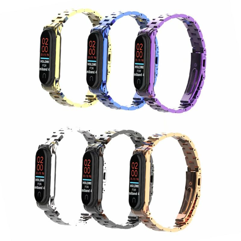 2019 Newest Mi Band 4 Replacement Metal Strap Wrist Strap Stainless Steel Bracelet Wristbands MiBand 3 Strap For Xiaomi Mi Band4