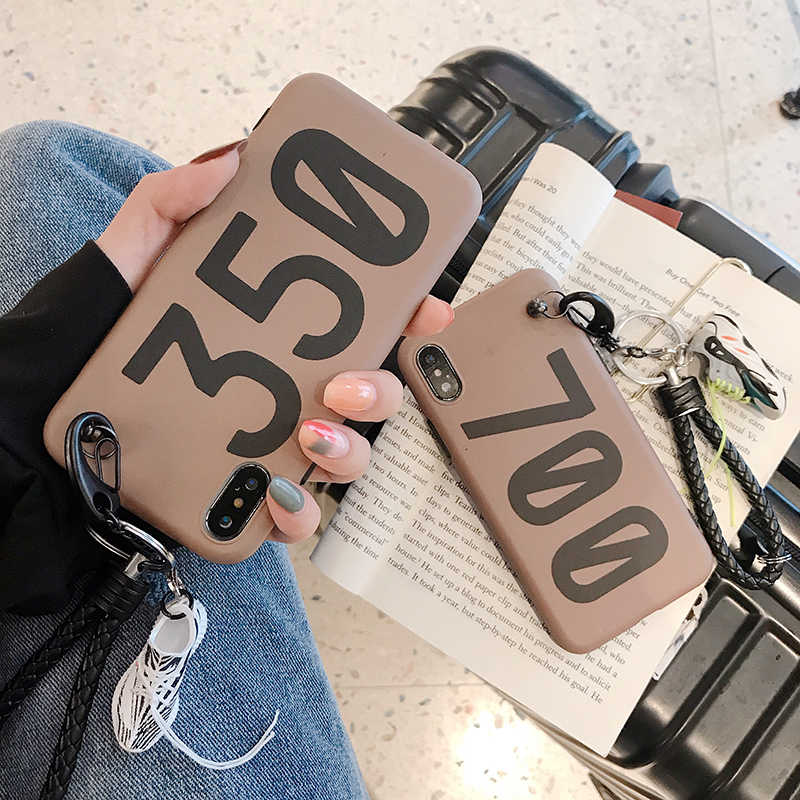 350 boost v2 700 Kanye لينة سيليكون غطاء حقيبة لهاتف أي فون 6 S 7 7plus 8 8plus X 10 XR XS Max ثلاثية الأبعاد نموذج حذاء سيارة مفتاح الهاتف coque