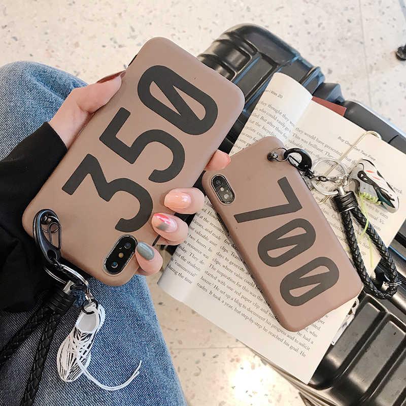 350 boost v2 700 Kanye funda de silicona suave carcasa para iPhone 6 S 7 7plus 8 8plus X 10 XR XS Max 3D zapato modelo coche llave teléfono coque