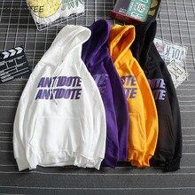 Sweat à capuche Simple Harajuku imprimé lettres, en velours, tendance, polyvalent pour femme, nouvelle poche à manches longues, vestes à capuche femmes