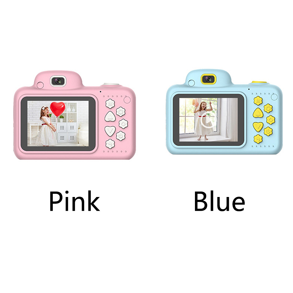 H93ede3bdb9eb40f98ad70c1df2f2a010E Camera Gifts Video With Memory Card DSLR Camcorder Dual Lens Cartoon Kids Toys Shockproof Mini Digital ABS 2.4 Inch Screen