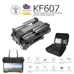 RC Drone KF607 z 4K HD podwójny aparat WiFi FPV optyczny przepływ Selfie Quadcopter składany Mini drony zabawki VS Z5 VISUO XS812 E58