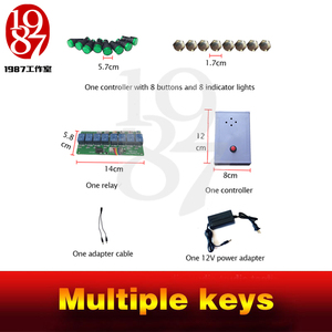 Image 4 - 2016 new Multiple keys real life room escape prop tools press button in sequence turn on the light and run awayfrom chamber room
