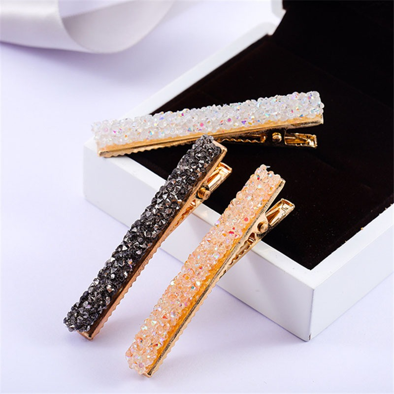 2020 New Crystal Rhinestone Hair Clip For Women Girls Barrette Hairpins Hair Accessories Styling Tools