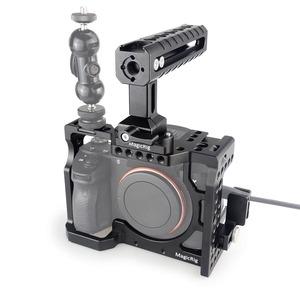 Image 1 - Magicrigデジタル一眼レフカメラnatoハンドル + hdmiケーブルクランプソニーA7RIII /A7III /A7SIIデジタル一眼レフケージ延長キット