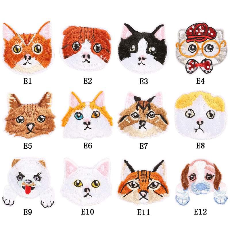 Bricolage brodé tissu autocollants dessin animé Animal Patch Badges enfants vêtements décoration autocollants