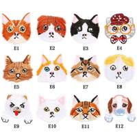 DIY Embroidered Cloth Stickers Cartoon Animal Patch Badges Kids Clothing Decoration Stickers