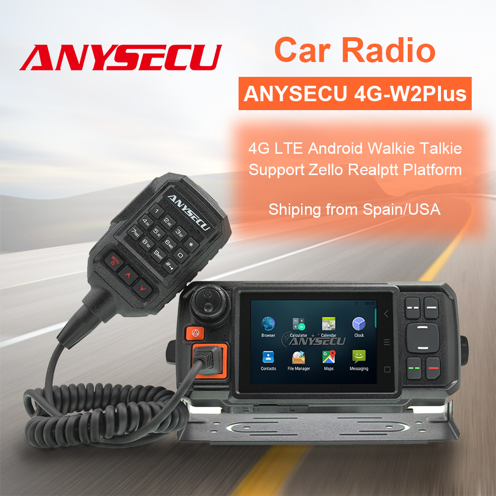 ANYSECU N60 4G Android Network Transceiver GPS 4G-W2 Walkie Talkie SOS Radios Bluetooth Car Radio Radio With SIM Card Radio
