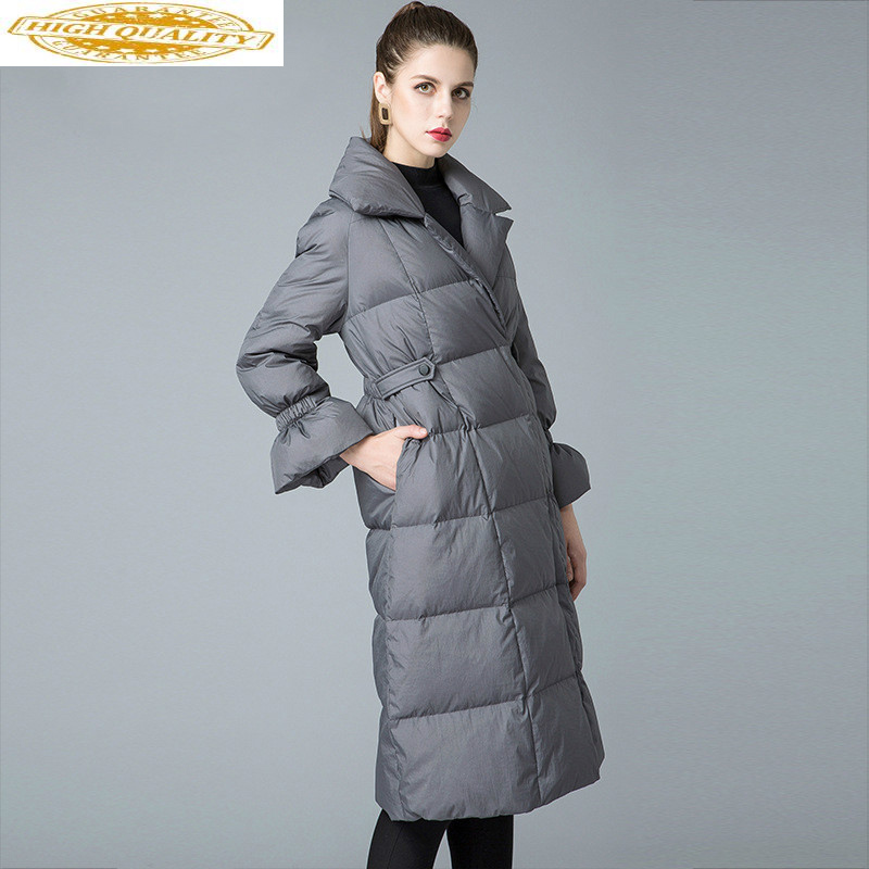 90% White Duck Down Jacket Women Winter Coat 2020 Long Thick Puffer Jacket Korean Winter Jackets For Women 8841211 KJ2629