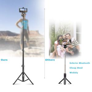 Image 3 - Cell Phone Selfie Stick Travel Tripod Stand for Mobile Phones iPhone iPAD HUAWEI Xiaomi Redmi Tablets wireless Bluetooth Portabl
